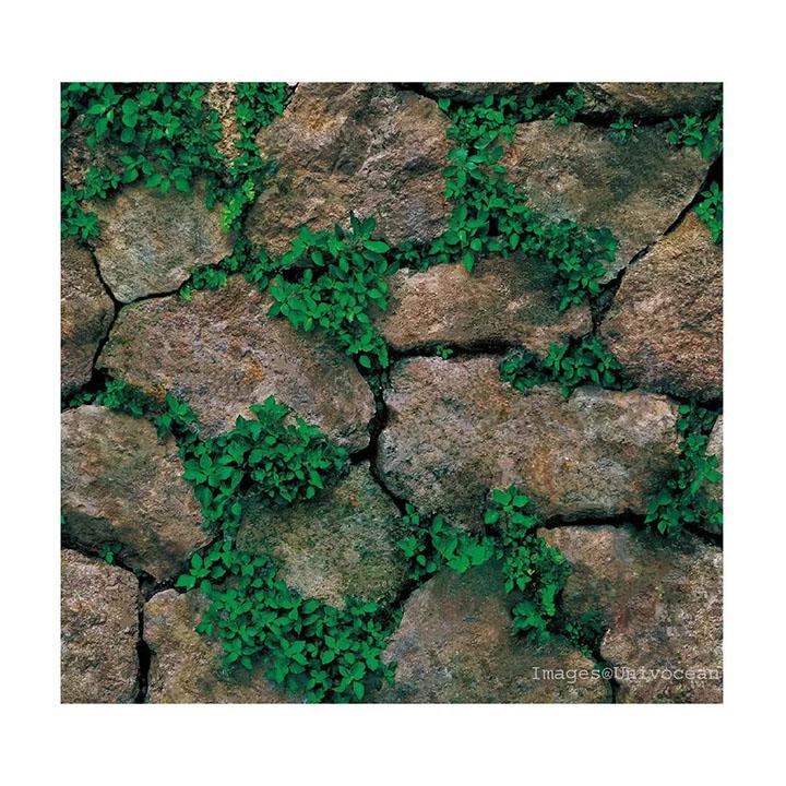 univocean 3d modern stone green wall sticker