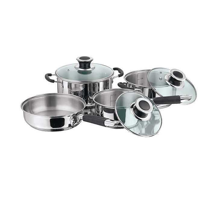 vinod stainless steel induction friendly masterchef cookware set