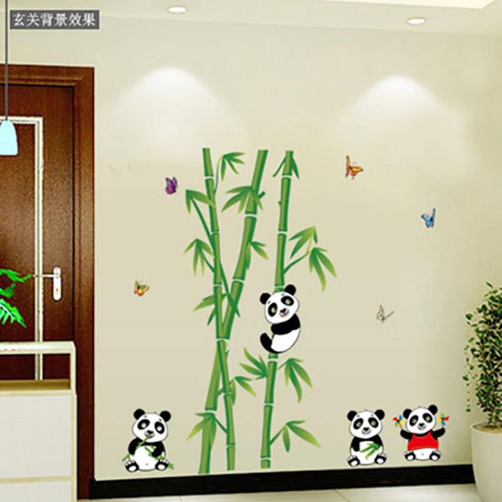 wall stickers panda bamboo