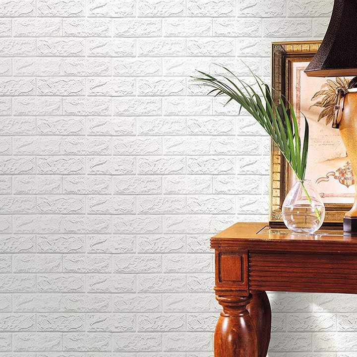 wallpaper mart – 3d embossed washable pe foam diy self adhesive brick wall sticker