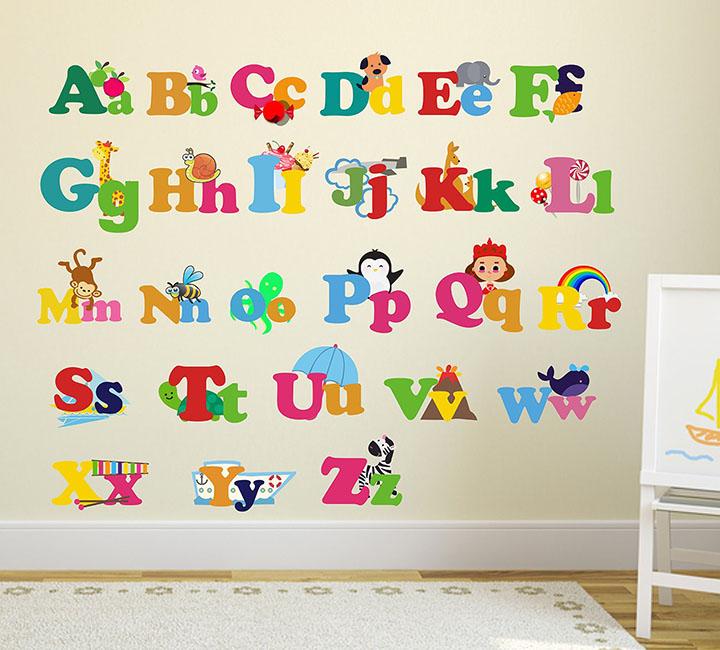 wallstick 'colorful alphabets' wall sticker