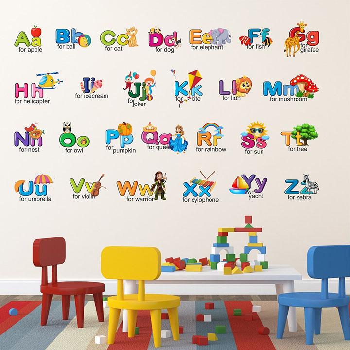 wallstick 'creative alphabets' wall sticker