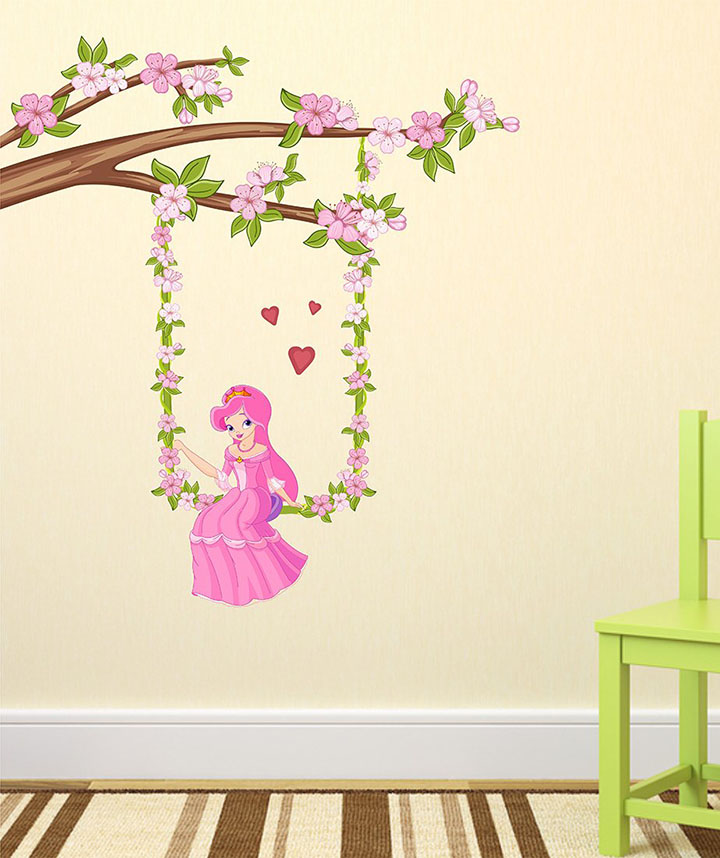 wallzone vinyl barbie doll wall sticker