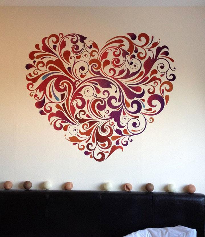 Decals Design 'Heart Floral' Wall Sticker