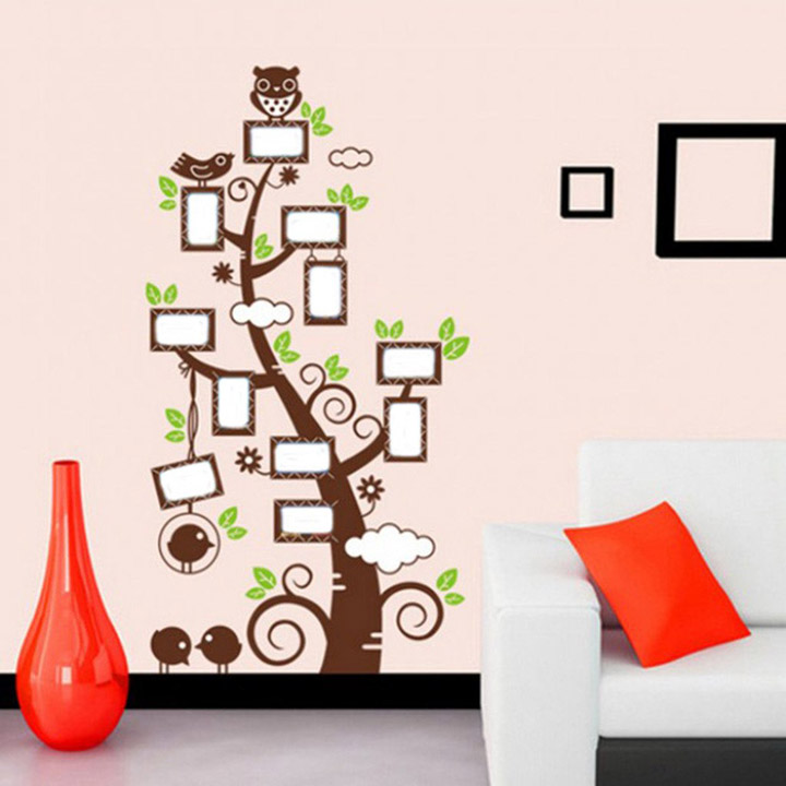 Decals Design 'Owl Photo Tree' Wall Sticker