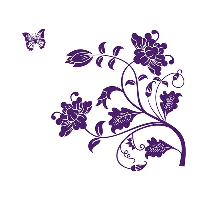 Decals Design StickersKart Wall Stickers Vine Flower