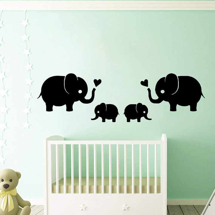 GADGETS WRAP New Elephant Wall Sticker Removable Wall Stickers