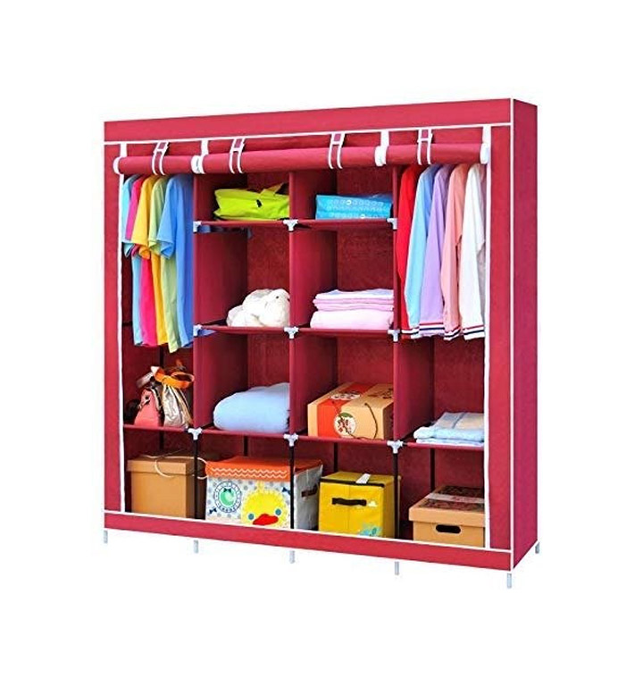 Lukzer 6 + 6 Shelves Waterproof Portable Collapsible Wardrobe