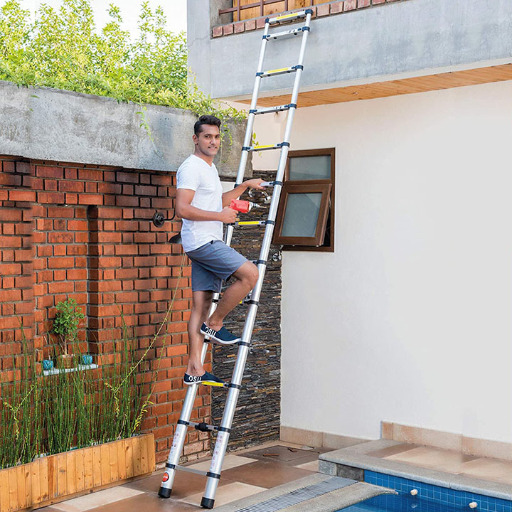 bathla vanguard telescopic aluminium alloy ladder