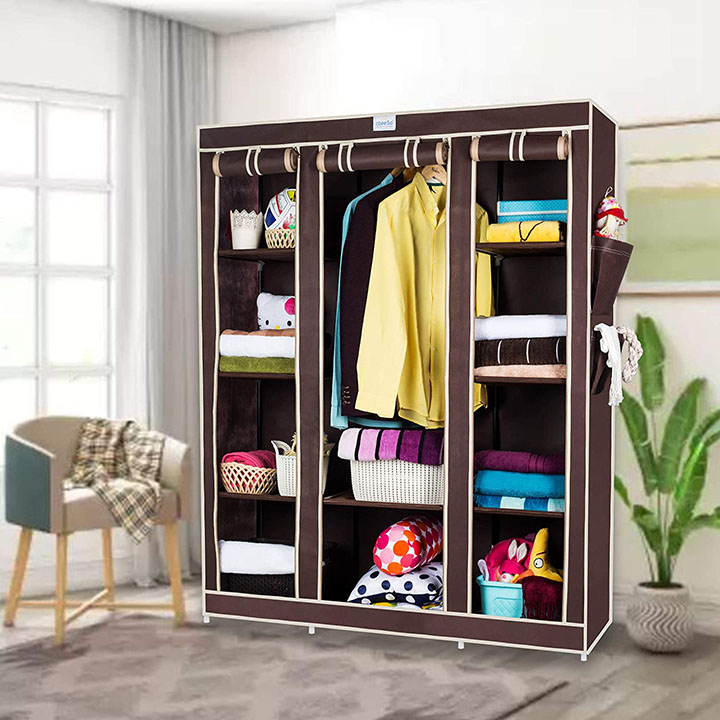 cbeeso 10 racks foldable wardrobe