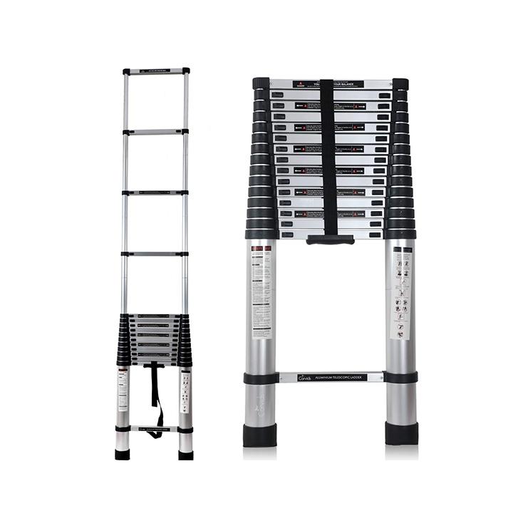 corvids 6.2m (20.5 ft) portable & compact aluminium telescopic ladder