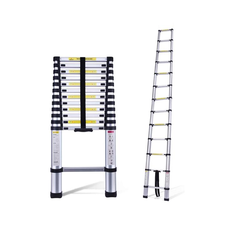 equal 15 ft telescopic 14 steps aluminium folding portable ladder