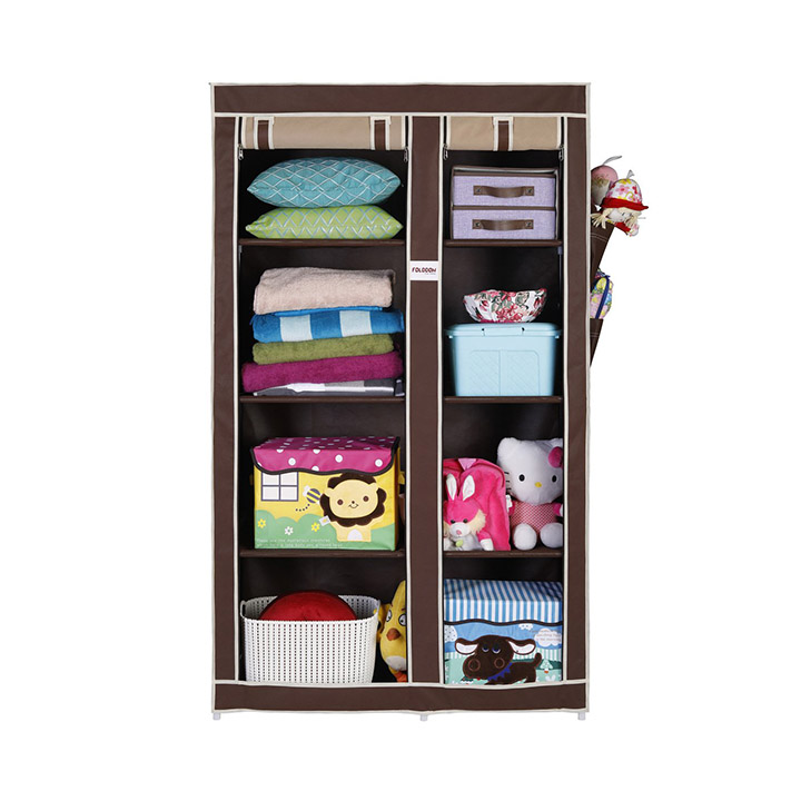 folddon foldable wardrobe with 8 racks