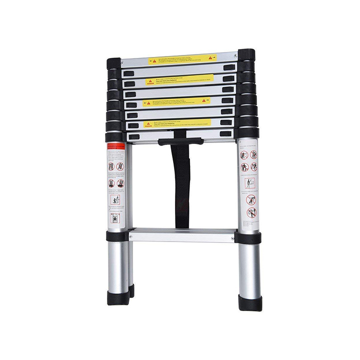 home buy aluminium folding step ladder portable and compact 7-steps telescopic