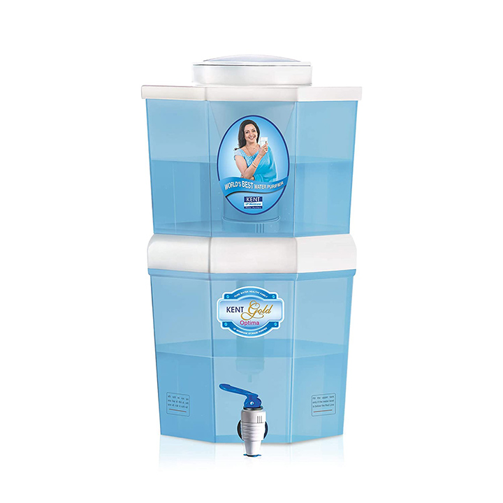 kent gold optima 10-litres gravity based non-electric water purifier