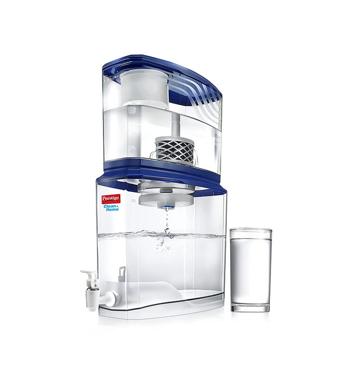 prestige non electric acrylic water purifier pswp 2.0, 18 l
