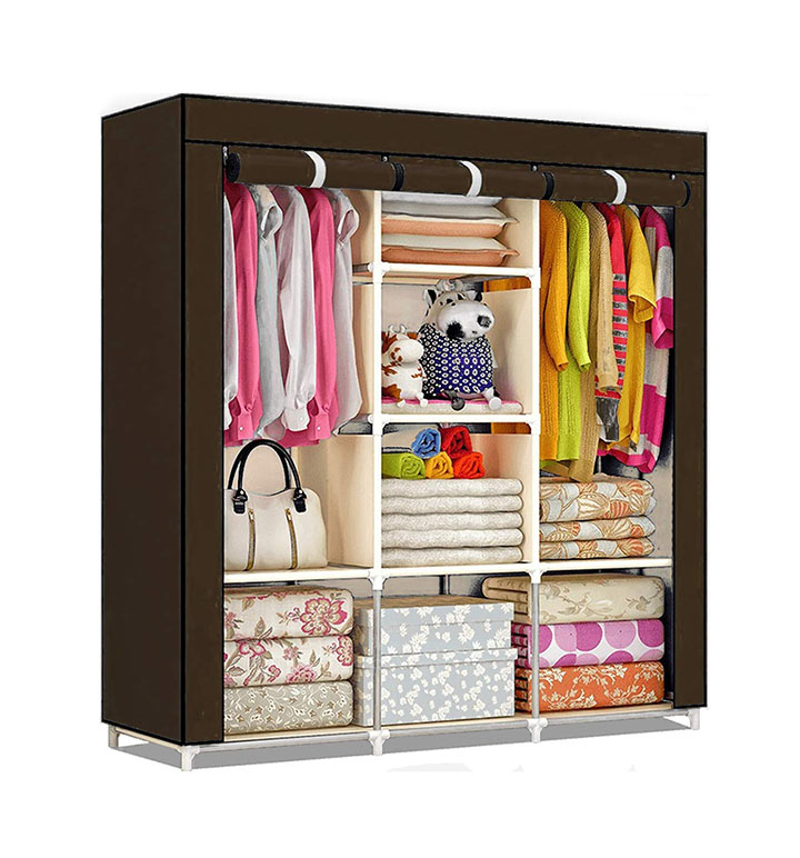 shopper 52.com Fancy & Portable Collapsible Foldable Clothes Closet Wardrobe