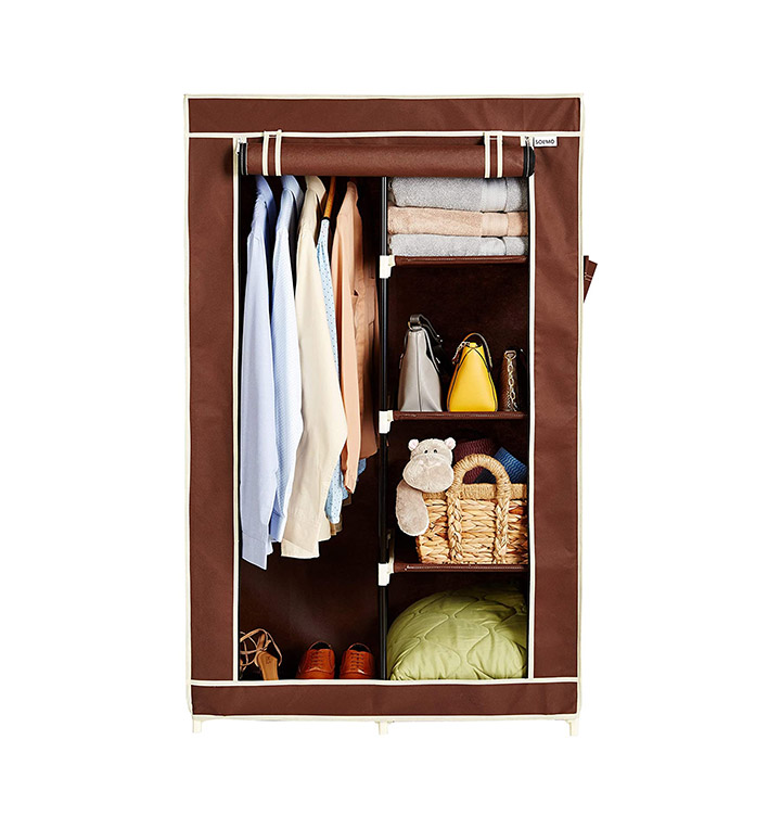 solimo 2 door foldable wardrobe