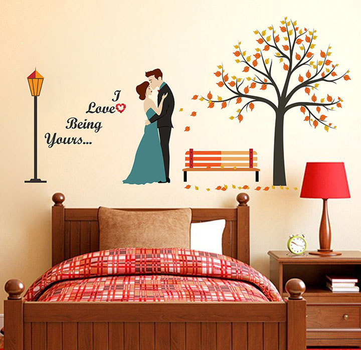 wallstick 'i love being yours' wall stickers