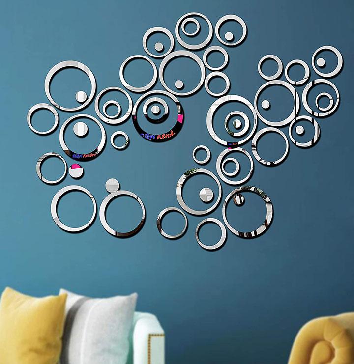 Bikri Kendra Acrylic Abstract Wall Sticker