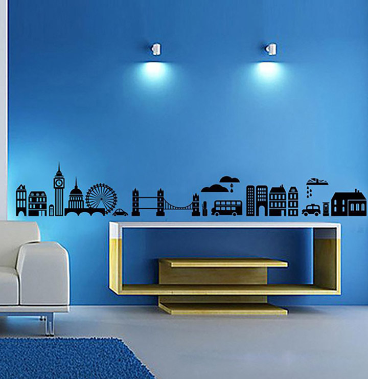 decals design 'modern town silhouettes' wall sticker
