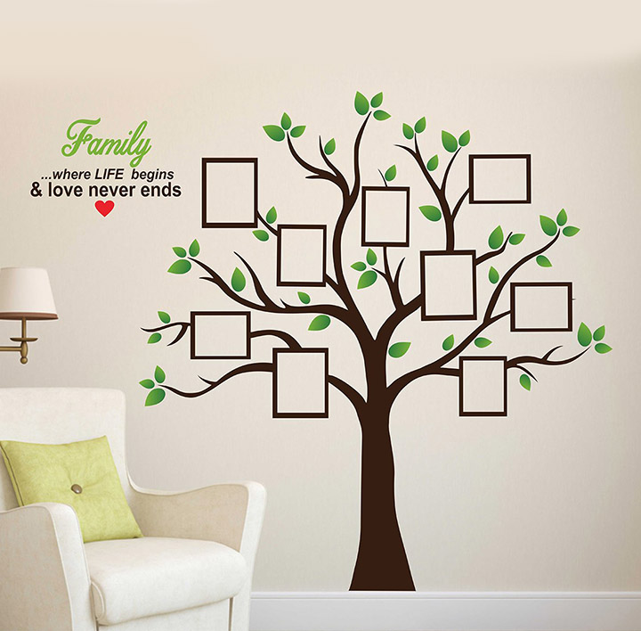 'Family Photo Tree' Wall Sticker