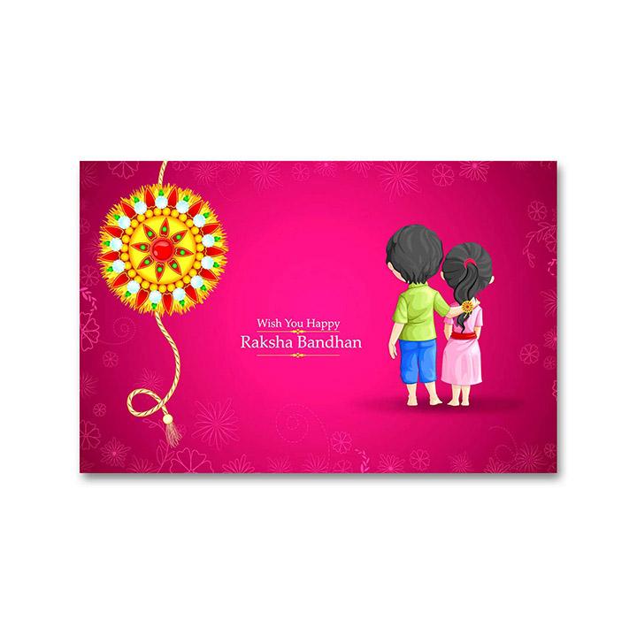 Happy Raksha Bandhan - Brother and Sister Alone Rakhi Stickers