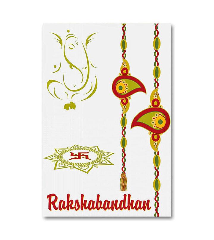 Lord Ganesha Sticker along with Rakhi