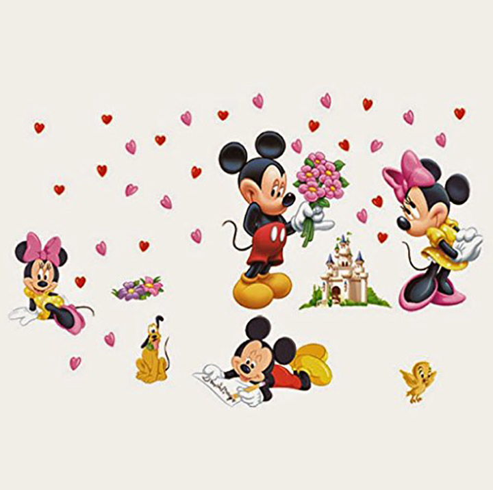 SYGA Mickey Mouse and Minnie Wall Stickers
