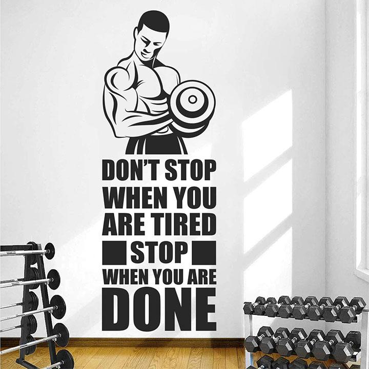 stickme gym fitness bodybuilding wall sticker