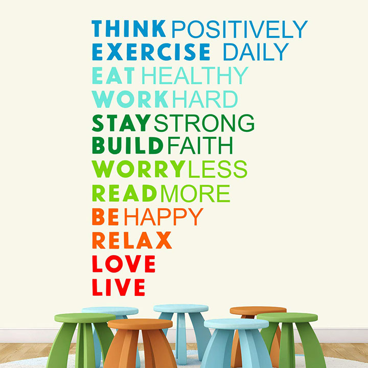 stickme paper think positively wall sticker