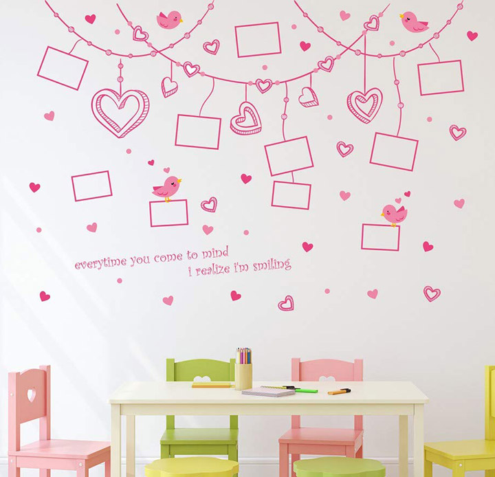 wallpaper stickers for living room capture the memories on wall