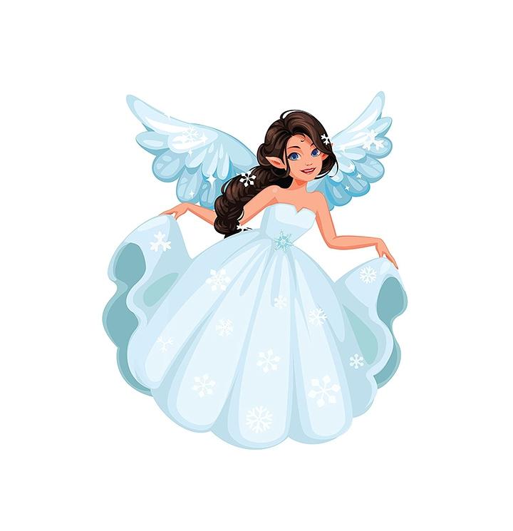 blue angel fairy wall stickers