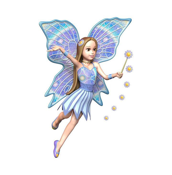 blue fairy skin sticker