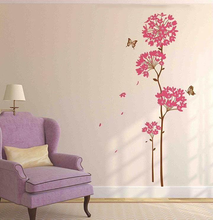 decals design 'flowers dandelion' wall sticker