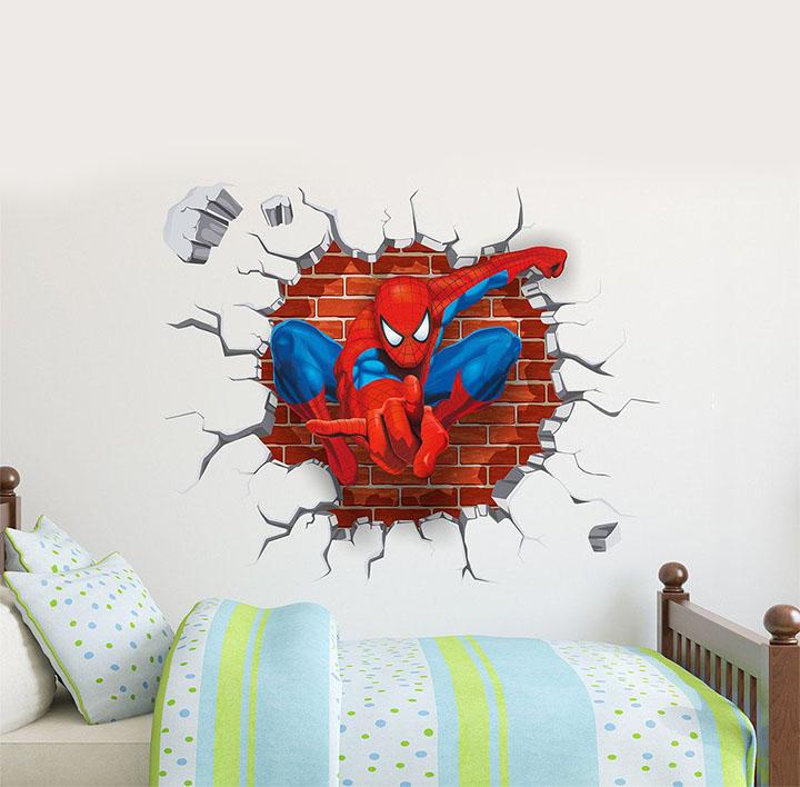 decals design 'spiderman super hero cartoon' wall sticker
