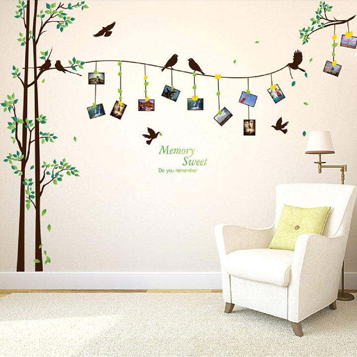 design of pvc birds wall sticker