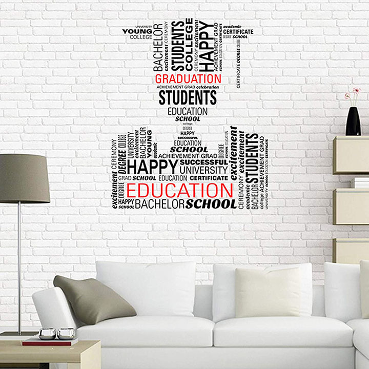 educational quote wall sticker for study room, school