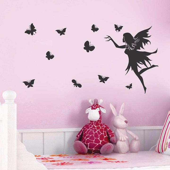 fairy butterfly wall sticker