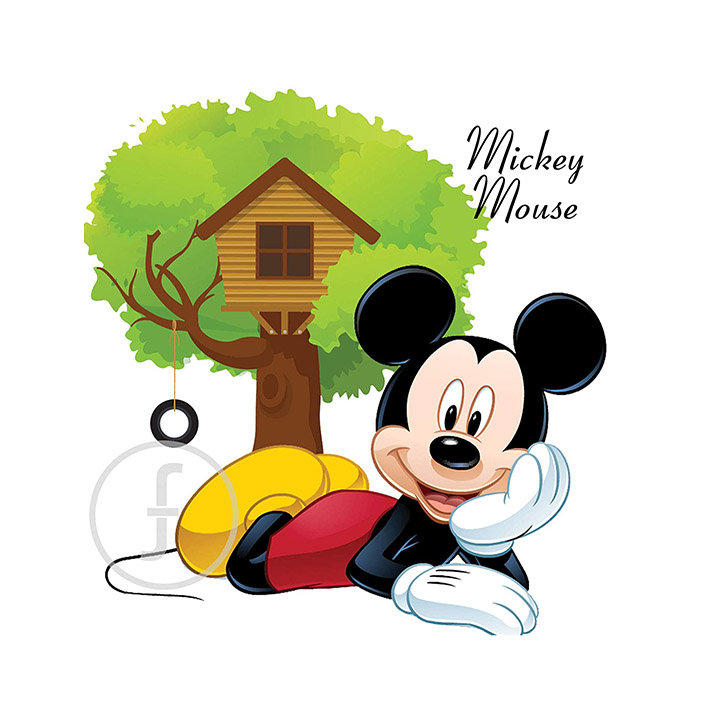 fingerz Mickey Mouse at Home Tree Wall Stickers