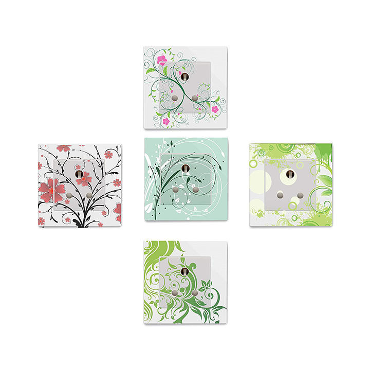 floral design switchboard wall sticker