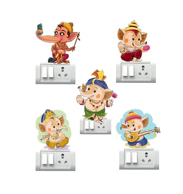 ganesh ji switch board & wall sticker