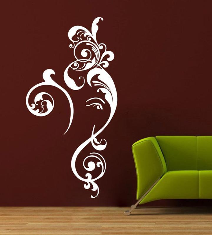 home decor flower ganesh ji wall sticker