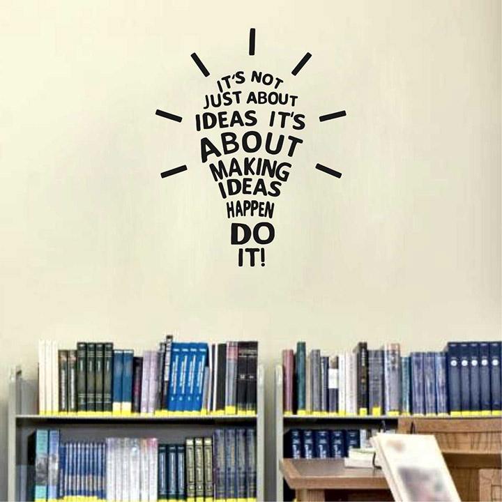 'idea' office wall sticker
