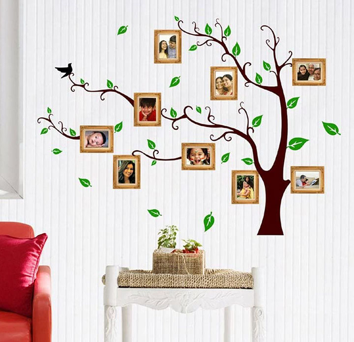 living family photo tree wall sticker