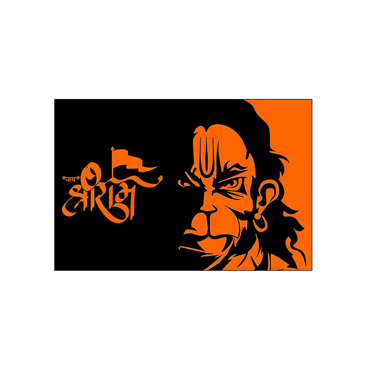 lord hanuman ji wall sticker