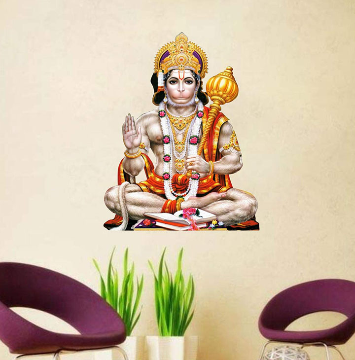 lord hanuman wall sticker and decals