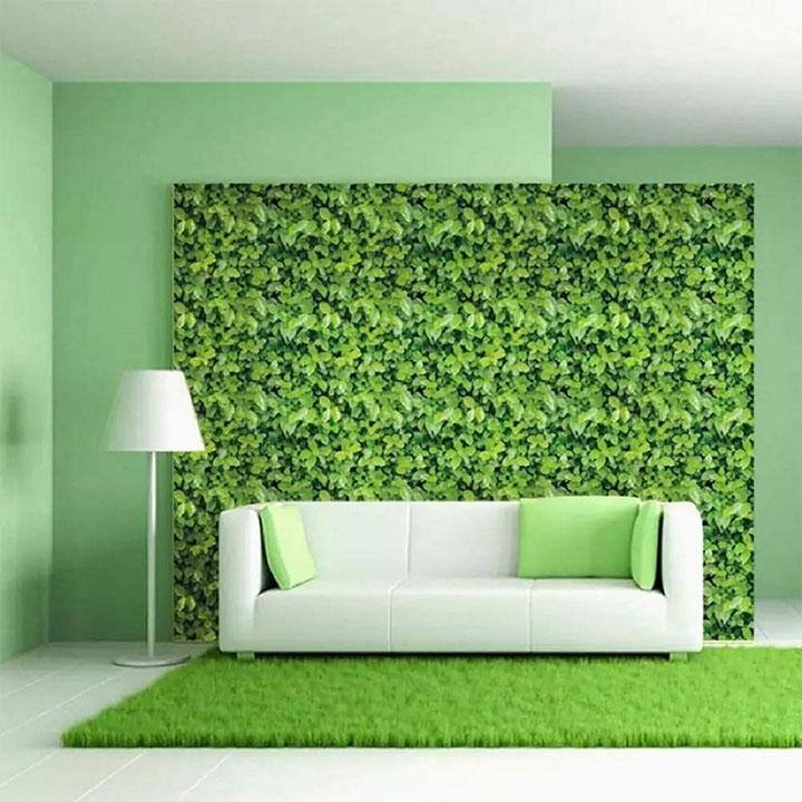 modern green garden leaves wallpaper, 3d wall poster, wall sticker