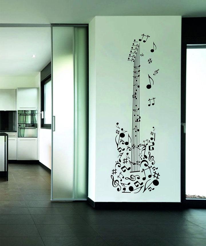 rawpockets musical guitar' wall sticker