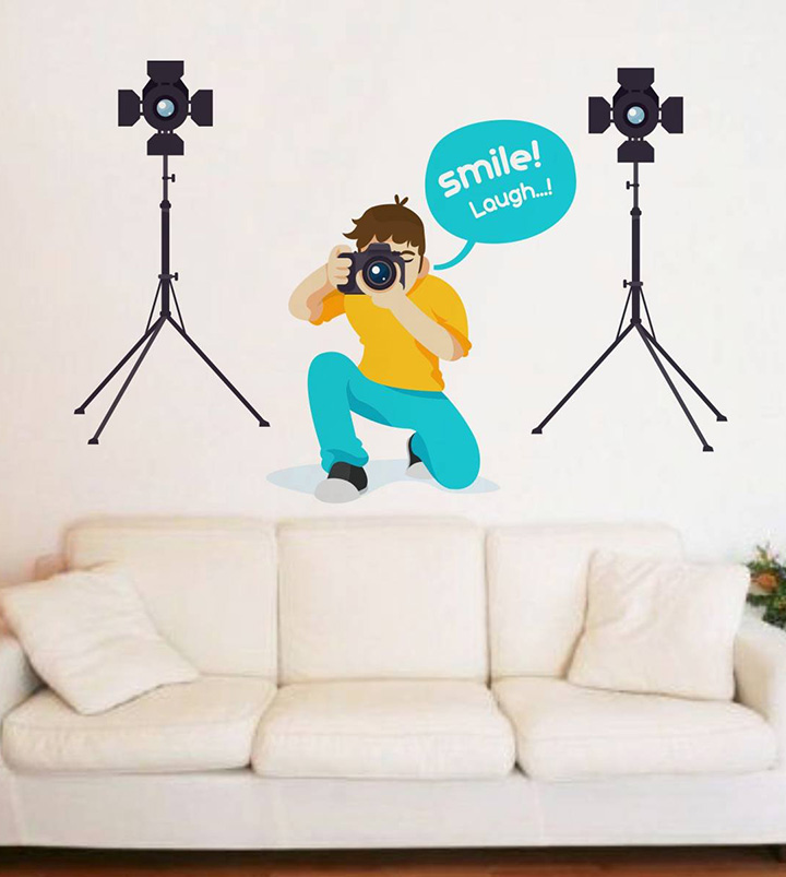 rawpockets 'smile and laugh creative' wall sticker